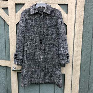 Ny&co winter coat black and white tweed look